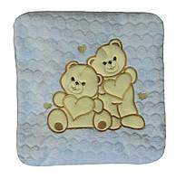 NEW! Детские махровые пледы в голубом цвете и с вышивкой - серия Мишки ТМ УКРТРИКОТАЖ!