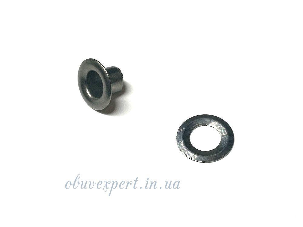 Люверс с шайбой 5 мм Черный никель, 10 шт