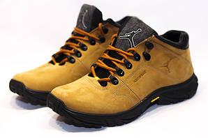 Ботинки найк джордан зимние кожаные рыжие с мехом (реплика) Nike Jordan Ginger Leather Winter