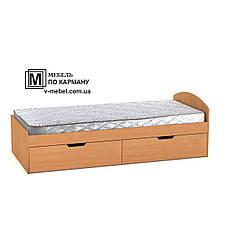 Односпальная кровать с двумя ящиками на колесиках 90+2, фото 3