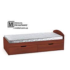 Односпальне ліжко з двома ящиками на коліщатках 90+2, фото 2