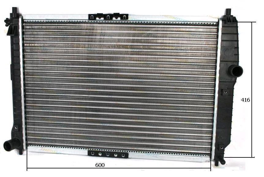 Радиатор основной Авео / Aveo Т250, Т255, (05-) 1,4 i 16V NISSENS,  61645
