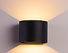 Фасадный светодиодный светильник 2х3Вт  3000К, черный DH013 COB
