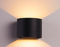 Фасадный светодиодный светильник 2х3Вт  3000К, черный DH013 COB, фото 1