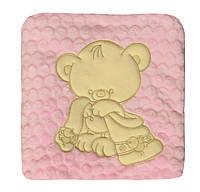 """NEW! Нежно-розовые пледы из махры """"зефир"""" для новорожденных девочек - серия Мишки ТМ УКРТРИКОТАЖ!"""