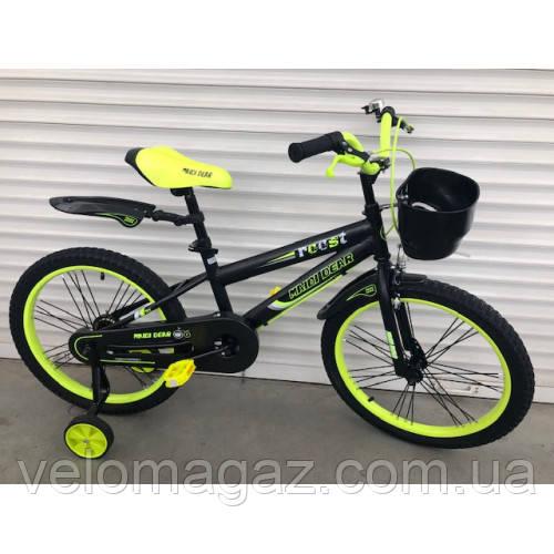 """Велосипед TopRider 240 12"""" салатовый детский двухколесный"""