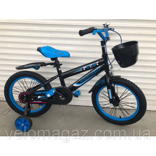 """Велосипед TopRider 240 12"""" синий детский двухколесный"""