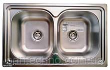 Прямоугольная кухонная мойка из нержавеющей стали  на две чаши Galati Fifika 2C Satin