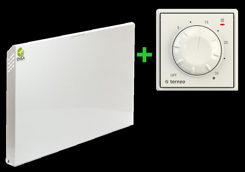 ИК обогреватель на стену ENSA P750 c терморегулятором Terneo Rol (Архивная модель/Снят с производства)