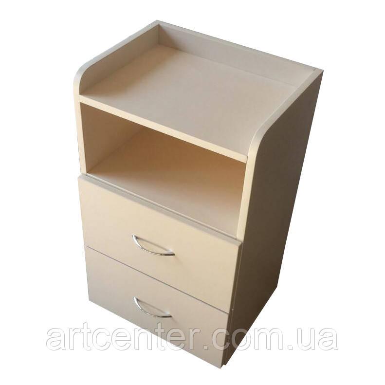 ТУМБА с двумя ящиками и верхней полочкой с бортиками