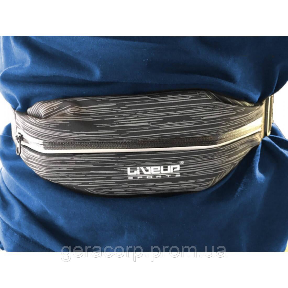 Пояс для бега LiveUp WAIST PACK черный
