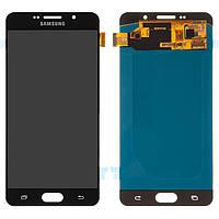 Дисплейный модуль (экран и сенсор) для Samsung Galaxy A7 (2016) A710 черный, OLED