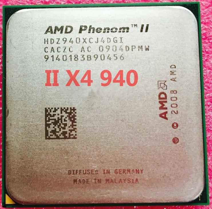 ПОТУЖНИЙ Процесор AMD SAM3, am2+ PHENOM II X4 940 BLACK EDITION 125W - 4 ЯДРА ( 4 3,0 Ghz кожне ) am3,SAM2+