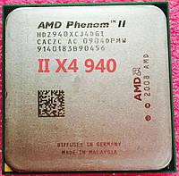 МОЩНЫЙ Процессор AMD SAM3, am2+ PHENOM II X4 940 BLACK EDITION 125W - 4 ЯДРА ( 4 по 3,0 Ghz каждое ) am3,SAM2+