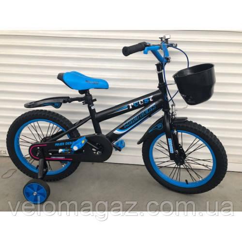 """Велосипед TopRider 240 16"""" синий детский двухколесный"""