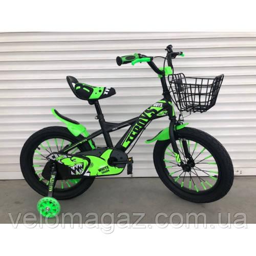 """Велосипед TopRider 605 16"""" салатовый детский двухколесный"""