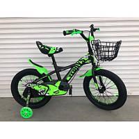 """Велосипед TopRider 605 16"""" салатовый детский двухколесный, фото 1"""