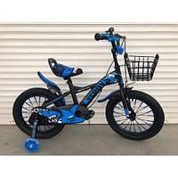 """Велосипед TopRider 605 16"""" синий детский двухколесный, фото 1"""