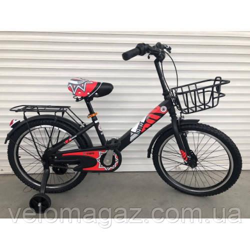 """Велосипед TopRider 703 20"""" красный детский двухколесный"""