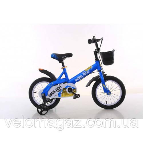 """Велосипед TopRider 876 16"""" синий детский двухколесный"""