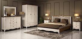 Спальня 5 Палермо Мебус дуб/белый