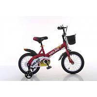 """Велосипед TopRider 876 16"""" красный детский двухколесный"""