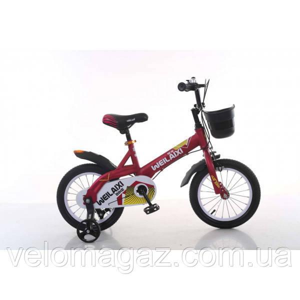 """Велосипед TopRider 876 14"""" красный детский двухколесный"""