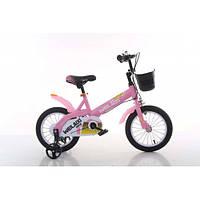 """Велосипед TopRider 876 14"""" розовый детский двухколесный, фото 1"""