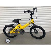 """Велосипед TopRider TT-06 16"""" магниевый, желтый детский двухколесный, фото 1"""