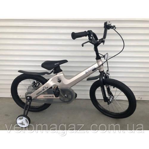"""Велосипед TopRider TT-06 16"""" магниевый, светло-бежевый металлик детский двухколесный"""