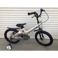 """Велосипед TopRider TT-06 16"""" магниевый, светло-бежевый металлик детский двухколесный, фото 1"""