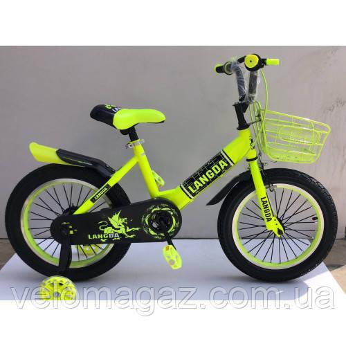 "Велосипед TopRider 866 16"" желтый детский двухколесный"