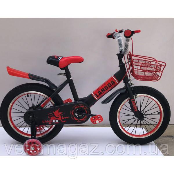 """Велосипед TopRider 866 16"""" красный детский двухколесный"""