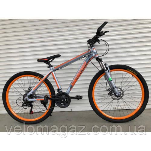"""Велосипед горный TopRider-424 26"""" алюминиевый оранжевый"""
