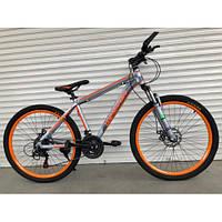 """Велосипед горный TopRider-424 26"""" алюминиевый оранжевый, фото 1"""