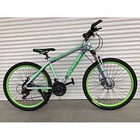"""Велосипед горный TopRider-424 26"""" алюминиевый салатовый, фото 1"""