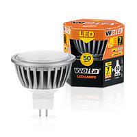 Светодиодная лампа Wolta 7Вт (50Вт) GU5.3, теплый 30YMR16-220-7GU5.3