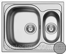 Прямоугольная кухонная мойка из нержавеющей стали  на две чаши Galati Fifika 1,5C Textura