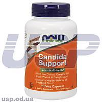 NOW Candida Support комплекс ацидофильных бактерий пробиотики спортивное питание
