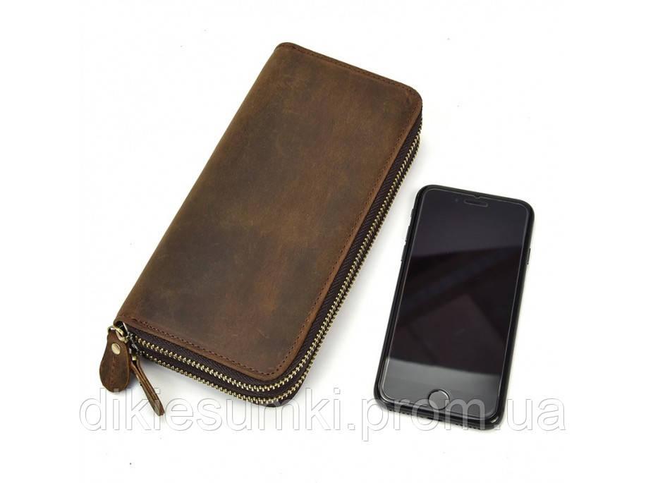 a79c7d095cfb Мужской клатч портмоне мужской кожаный TIDING BAG T4009R коричневого цвета
