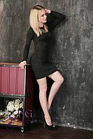 Женское платье из ангоры до колен