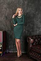 Женское зеленое платье из ангоры