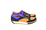 Кросівки підліткові натуральна шкіра зі вставками із замші від виробника KARMEN, фото 4