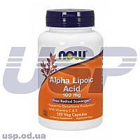 NOW Alpha Lipoic Acid 100 mg Альфа-липоевая кислота для похудения снижения веса жиросжигатель спортпит