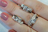 Набор серебряных украшений в класическом стиле