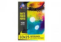 Матовая фотобумага INKSYSTEM 230g, 10x15, 100 л. для печати на Epson 1500W