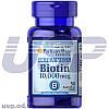Puritan's Pride Biotin 10000 mcg витамин биотин для роста волос и ногтей витамины от выпадения волос для кожи
