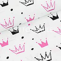 Бязь Короны малиново-черные