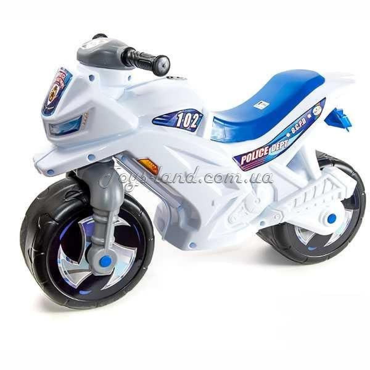 Мотоцикл 2-х колісний з сигналом (білий), арт. 501в.3 БЕЛ, Оріон