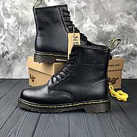 Мужские зимние ботинки Dr. Martens с мехом. Кожа. Подкладка - набивной мех. 6674ce74132a2